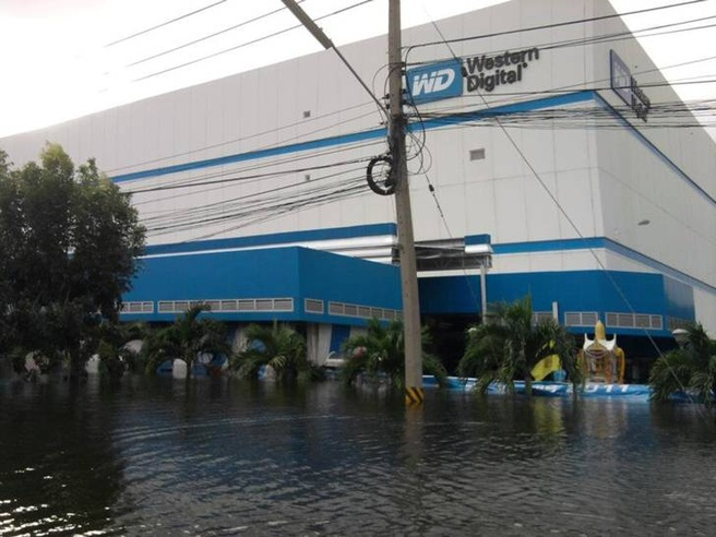 Western Digital overstroming Thailand