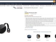 Chromecast Ultra op Amazon