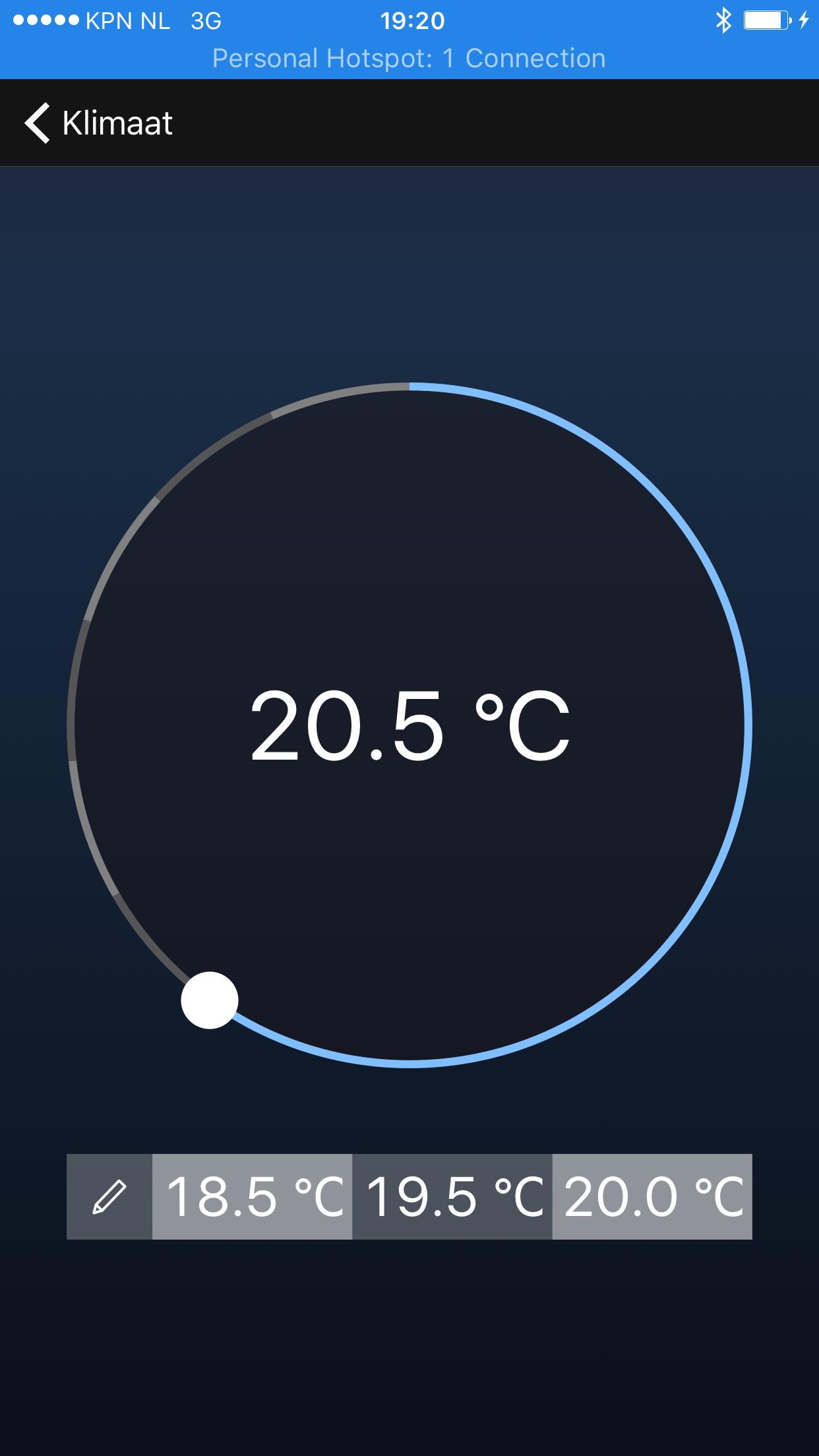 Warmtepomp temperatuur instellen