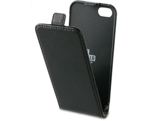 BeHello iPhone 5 / 5S / SE Flip Case Black