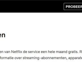 Netflix: gratis proefperiode, februari 2020