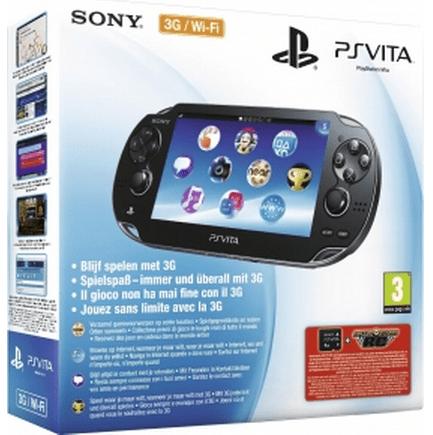 Sony PlayStation Vita 3G + Motorstorm RC (voucher) + 4GB Zwart