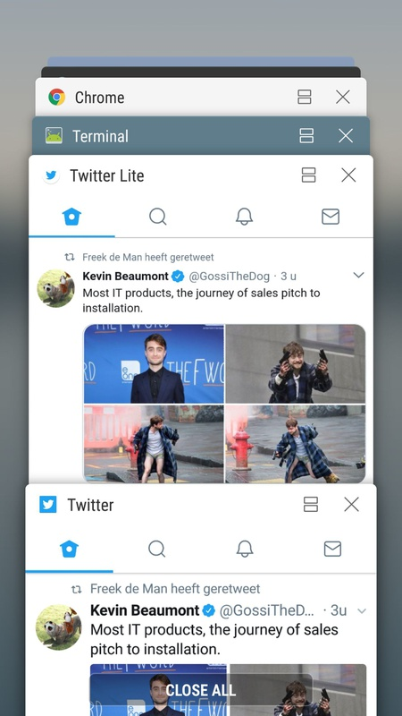 Twitter Lite Chrome