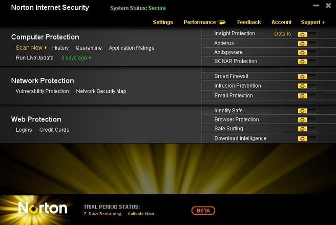 Norton Internet Security 2011 Bèta
