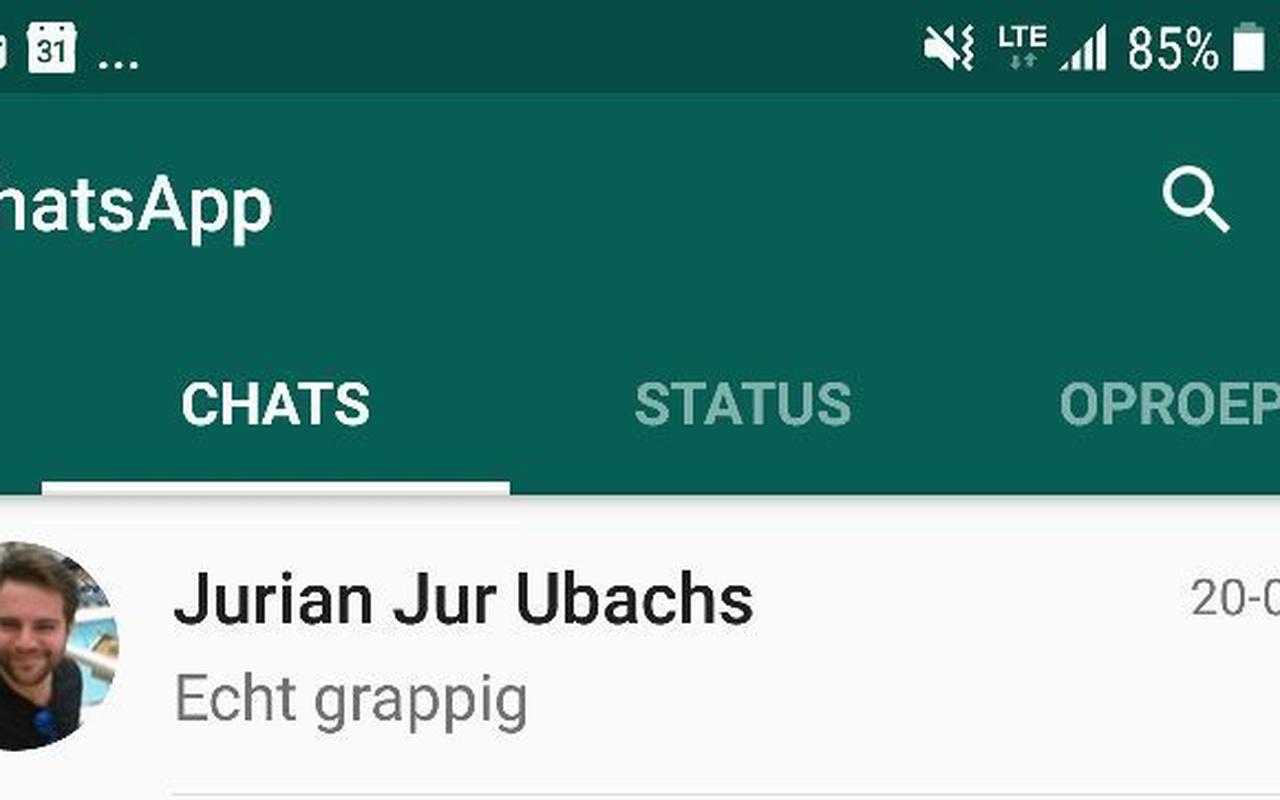WhatsApp chats vastzetten - pinnen