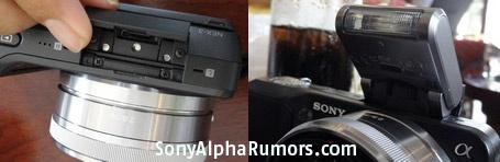 Sony NEX3 NEX5 flash hotshoe