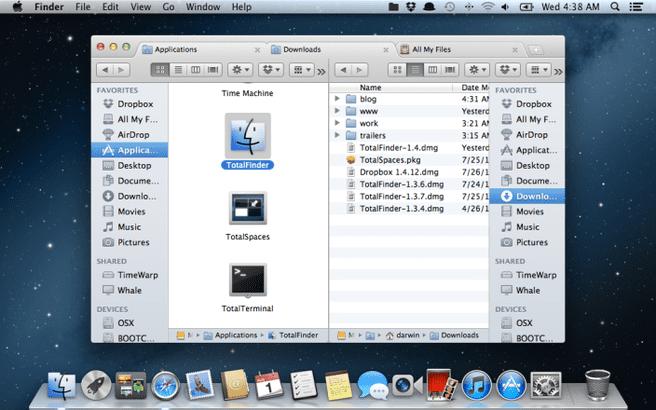 TotalFinder op OS X