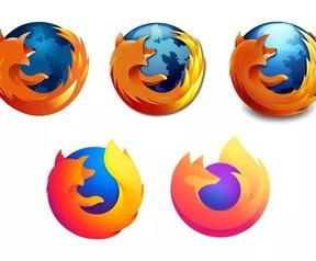 Firefox-logo door de jaren heen, eindigend in 2019. Bron: The Verge