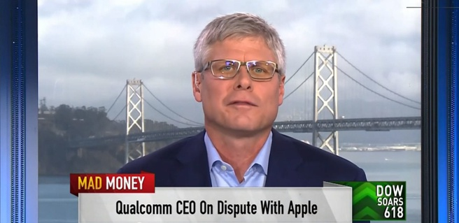 Qualcomm-ceo Steve Mollenkopf in interview met CNBC, 29-11-2018