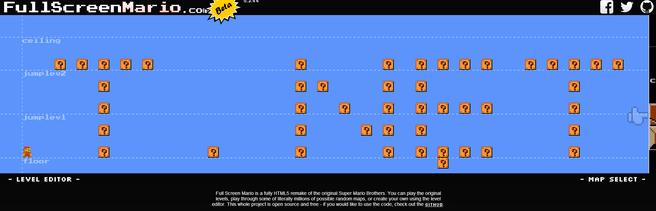 Full Screen Mario level editor