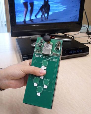 Prototype batterijloze afstandsbediening