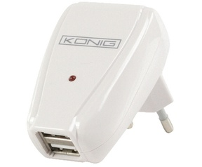 König Home charger for USB with dual output