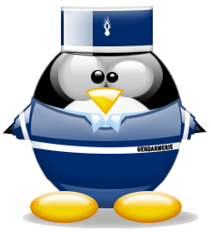 Tux in Gendarme-uniform