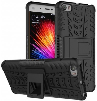 qMust Xiaomi Mi 5 Rugged Hybrid Case - Dual Protection - Black