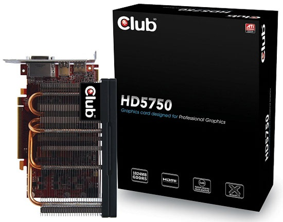 Club3D passief gekoelde Radeon HD 5750