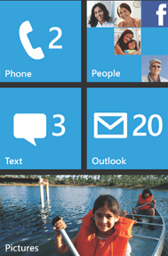 Windows Phone 7 - interface