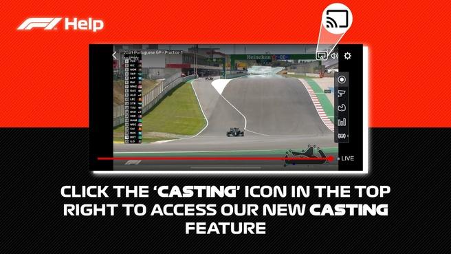 F1 TV Chromecast AirPlay