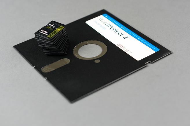Floppy en sd-kaarten