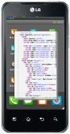 Mockup: LG Optimus 2X met B2G