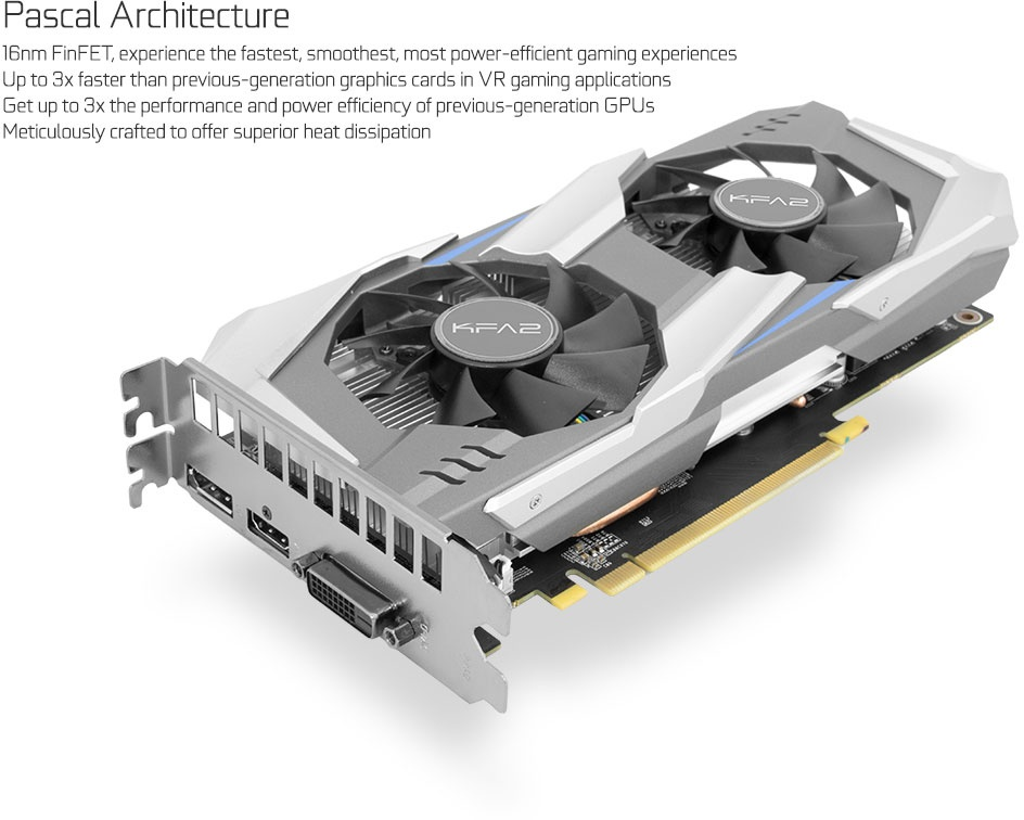KFA2 - GeForce GTX 1080 Exoc Sniper white 8GB …