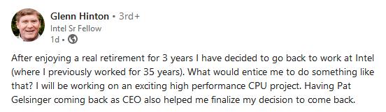 Glenn Hinton op LinkedIn