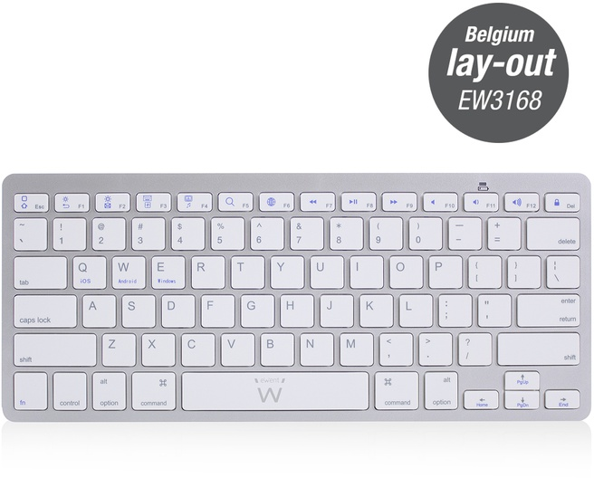 Ewent EW3168 Ultra-slim Bluetooth Keyboard - BE layout (Azerty)