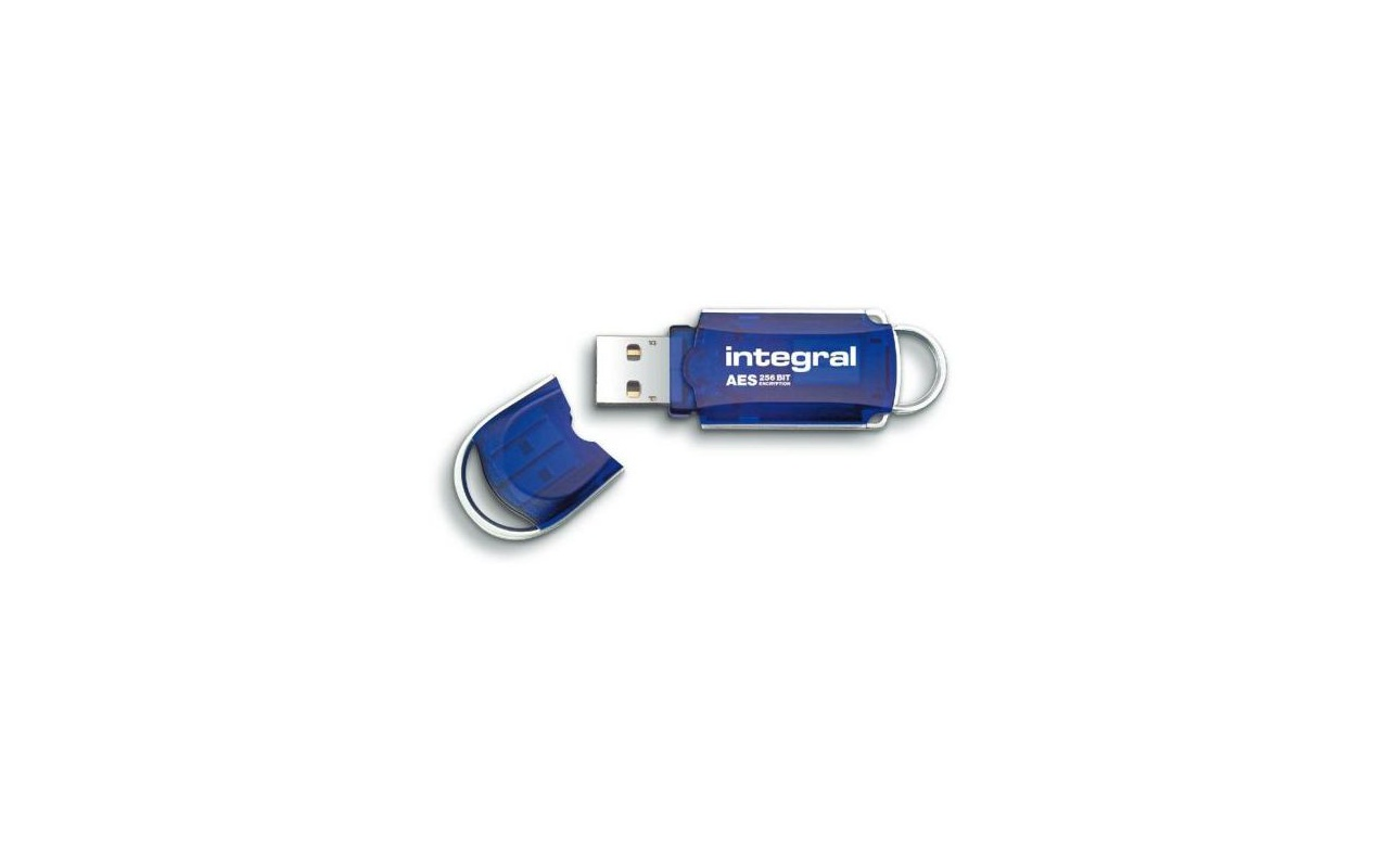 Integral USB 2.0 Courier AES Security Edition 64GB Blauw