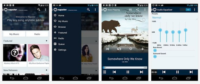 Napster voor Android