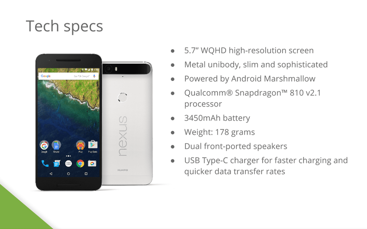 Google Nexus 6P slides