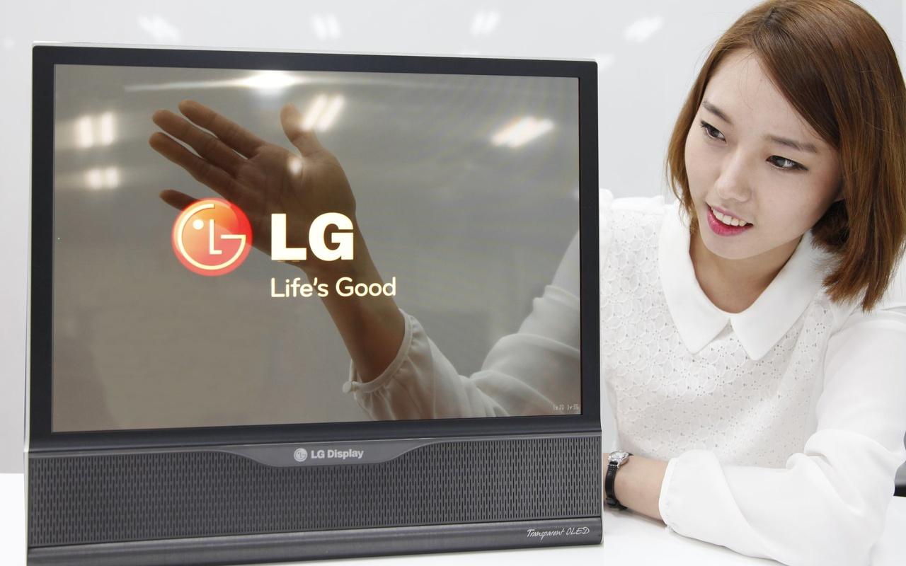 "LG Display: transparant 18""-scherm"