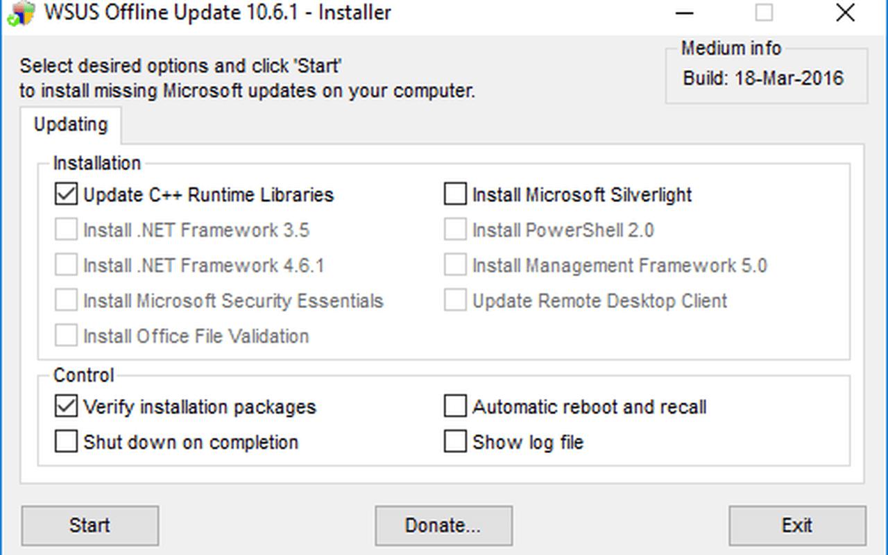 WSUS Offline Update 10.6.1