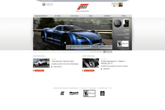 De portal van Forzamotorsport.net
