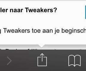 Tweakers: melding op iOS toevoegen homescreen