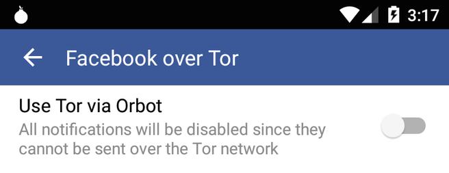Facebook Orbot Tor