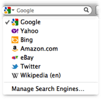 Twitter-zoekfunctie in Firefox 8