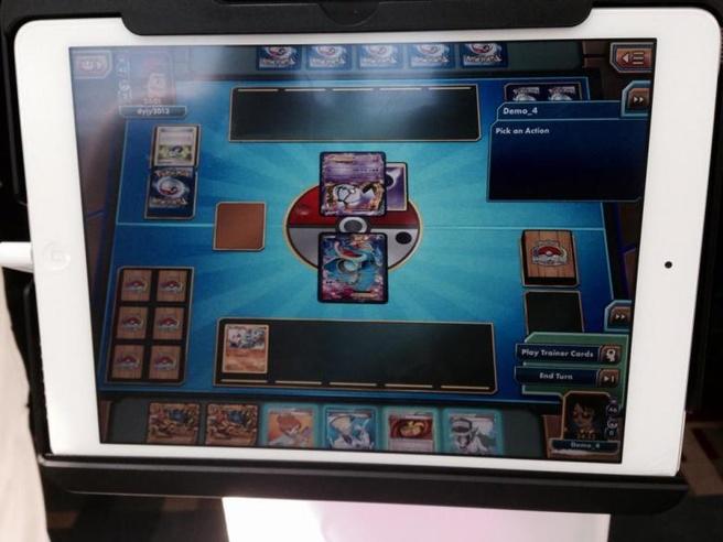 Pokémon-kaartspel op iPad