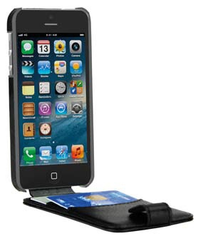 Gecko Wallet Flip Case Apple iPhone 5 (Black)