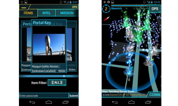 Android-versie Ingress in november 2012