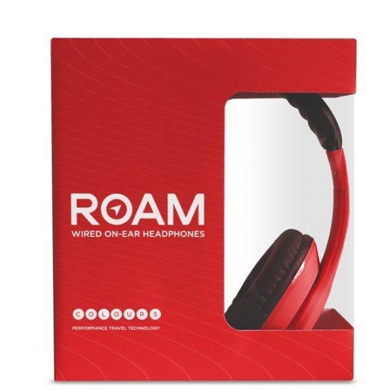 Roam Headphones Wired On-Ear Colours (Rood, Zwart)