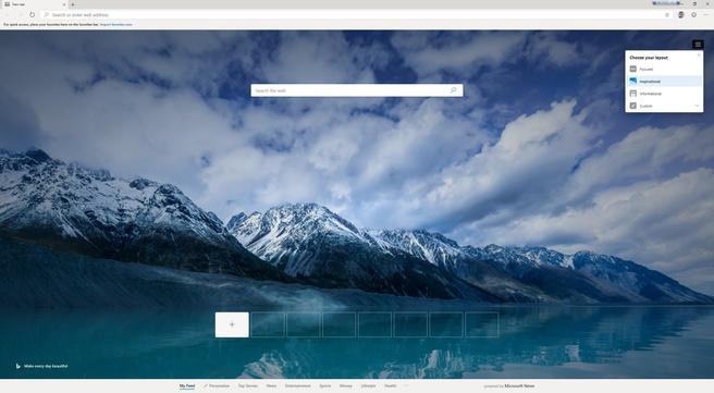 Microsoft Edge Chromium tab