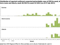 Ebola: epidemische curve augustus 2014