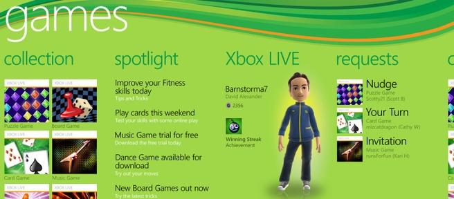 Windows Phone 7: Xbox Live-hub