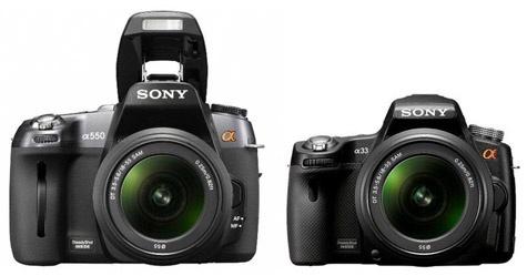 Mogelijke productshot van Sony Alpha A33-dslr