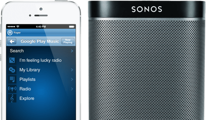 Google Play Music op Sonos