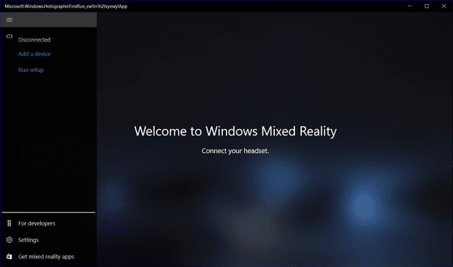Widows Mixed Reality-app