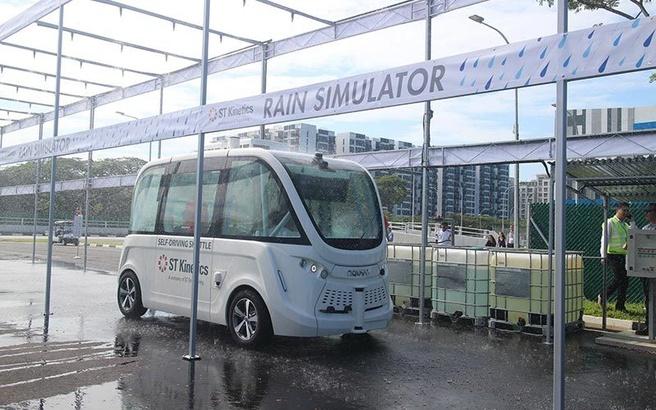 Singapore zelfrijdende bus