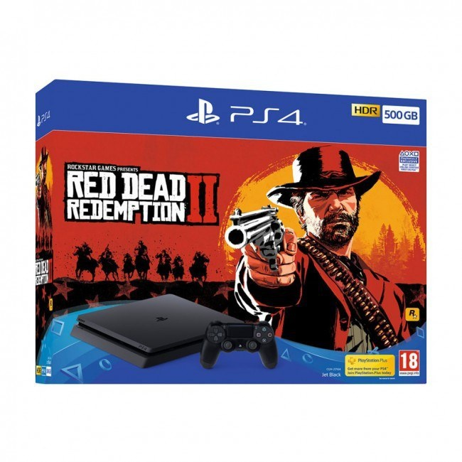 Sony PlayStation 4 Slim 500GB + Red Dead Redemption 2 Zwart