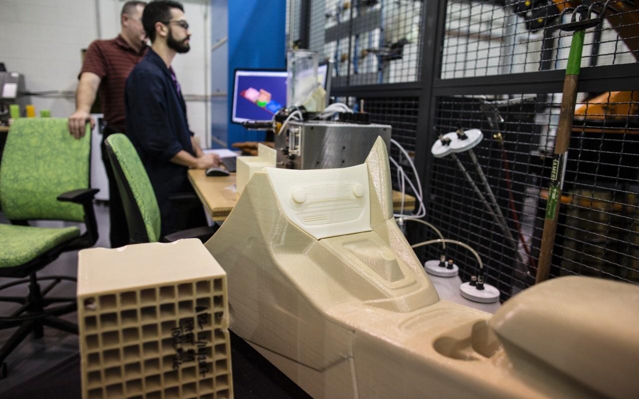 Ford test 3d-printen van onderdelen