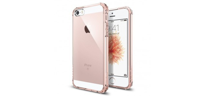 Spigen Crystal Shell Apple iPhone SE Case - 041CS20178 - Rose Crystal