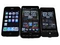 HTC HD2, Hero en iPhone